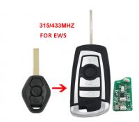 3pcs 3 Button Flip Remote Key 315MHZ/433MHZ for BMW EWS 325 330 318 525 530 540 E38 E39 E46 M5 X3 X5 HU92 Uncut Blade