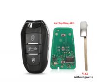 3pcs 3 Button Remote Key 433MHz ID46 PCF7945 Chip Keyless Go For Peugeot 308 408 508 5008 Emergency key HU83/VA2