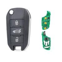3pcs 3 Button Flip key Remote Car Key Fob  433MHz ID46 for Peugeot 308 3008 408 4008 508 5008 2010-2015 For Citroen C-Elysee C4-Cactus