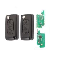 3pcs 3 Button (Light/Truck) remote Flip Car Key 433MHZ ID46 For Citroen C2 C4 C5 C8 For Peugeot 307 308 607 VA2/HCA 0536