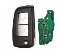 2/3 Buttons 433MHz 4A PCF7961 Flip Remote Key For Nissan Qashqai J11 Pulsar C13 Juke