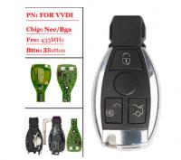 3pcs 3 Buttons Xhorse VVDI BE Key Pro Improved Version Remote Key 315/433mhz for   Mercedes Benz