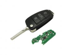 Folding Flip 3 Button Remote Car Key FSK 315/434Mhz 8E Chip  for Audi A6 A6L S6 Q7 2006 2007-2012