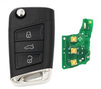 Folding Flip Upgraded Remote Key 434MHz HU66 Uncut Blade ID48 Chip Smart Sliver Tail MQB Universal for VW for Volkswagen Passat