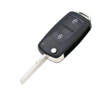 2 Button Flip Remote Key 1J0 959 753 P 433MHZ 1J0959753P ID48 Chip For Volkswagen For VW Beetle Golf Passat Jetta HU66 Blade