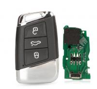 Smart Remote Key 3BT 315/434MHz FOB for Volkswagen VW Magotan B8 Superb A7 Passat Variant 2015-2019 MEGAMOS 88 AES