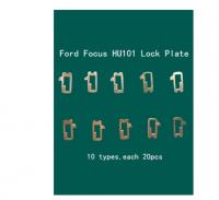 200pcs/lot HU101 Car Lock Reed Plate For Ford Focus Fiesta Ecosport Brass Material Locksmith Tools Car Lock Repair Kit