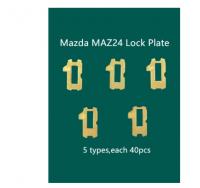 200pcs/lot MAZ24 Car Lock Reed Plate For Mazda Auto Lock Core Key Lock Repair Accessories Kits Locksmith Tools 5 x 40pcs