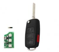 3+1/4 Button Flip Remote Key 315MHZ ID48 Chip For Volkswagen/VW1J0959753AM/1J0 959 753 DC /1J0 959 753 T/1K0 959 753 P
