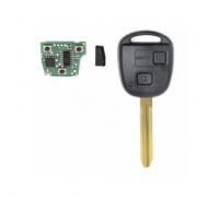 3pcs 2 Buttons Car Remote key 315/434Mhz 4D67 Chip For Toyota Avensis Kluger Prado120 Tarago RAV4 Replacement Remote Control Key