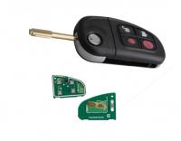 Flip car key 4 button remote key w434mhz 315mhz & ID60 4D60 glass chip for ford Jaguar auto key