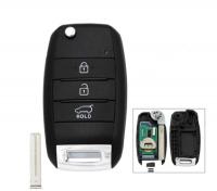 3PCS 3 Button Flip Remote Car Key Fob 433MHz 4D60 Chip for KIA Carens Rondo 2012+