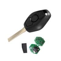 3pcs Auto key 3 button Remote Car key 315mhz 433mhz ID44 pcf7935 chip for BMW EWS E46 Systerm car key