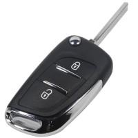 3PCS 2 button modified peugeot/citroen replacement key shell with VA2T/HU83/NE72 blade