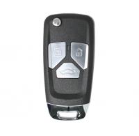 10pcs XKAU01EN XHORSE VVDI Universal Wired 3 Buttons Flip Remote Key Audi Style