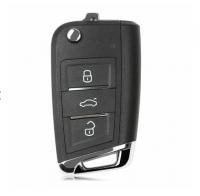 10pcs VVDI Xhorse XKMQB1EN 3 Buttons Wire Remote Key For MQB Flip for VVDI Key