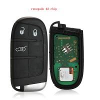 original JEEP renegade 4A chip 3 button smart key 434mhz  chip pcf7953M