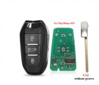3pcs Smart Keyless Go Remote Key 3 Buttons 433MHz 4A PCF7945 Chip For Peugeot 308 408 508 5008 Emergency key HU83/VA2