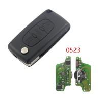 3pcs 3 Button Flip Remote Car Key CE0523 ASK 433 MHZ ID46 PCF7961for Peugeot 207 308 408 for citroen