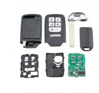 2PCS  for Honda Key Fob 6 Buttons 313.8Mhz Remote Car Key ID47 Chip For Honda Odyssey Driver 2014 2015 2016 2017