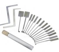 GOSO 14 Piece Dimple Lock Pick Set – Interchangeable Handle