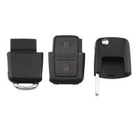 5PCS VW 2 button remote key blank