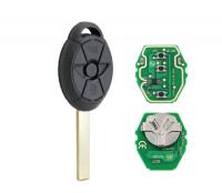 3pcs 3 Button EWS Remote Car Key 315MHZ 433MHZ ID44 PCF7935 Chip For BMW Mini Copper 2005 2006 2007 HU92 Uncut Blade