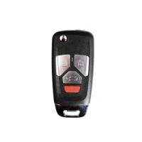 10pcs Xhorse XKAU02EN XHORSE VVDI Universal Wired Flip Remote Key 4 Buttons Audi Style