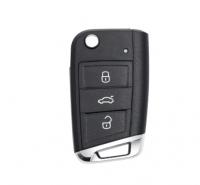 3PCS  3 button flip remote key MQB platformnot keyless ID48 chip-434mhz & HU66 blade for vw Golf 7 MK7