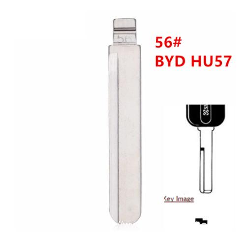 20pcs 56# HU57 Metal Uncut Blank Flip Remote Key Blade For BYD fF3 Volvo for keydiy KD xhorse VVDI JMD