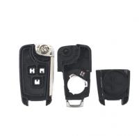 5PCS Flip Folding Remote Car Key Shell For Chevrolet Cruze Epica Lova Camaro Impala 2 3 4 5 Button HU100 Blade Replacement