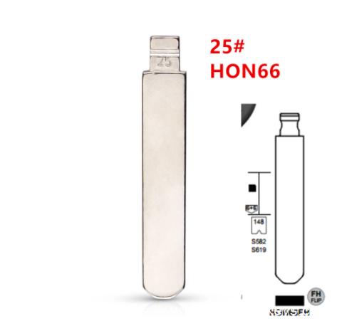 20pcs HON66 Flip Blank key Blade 25# HON66FH for Accord Fit City New Odyssey for KD keydiy xhorse remotes