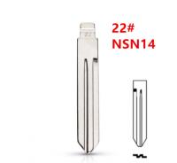 20pcs Uncut flip Metal key blade 22# NSN14 for Nissan Sunny Tiida Teana for KD keydiy xhorse VVDI remotes universal No.22