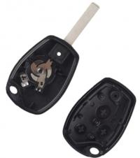 5PCS  3 Button Uncut Blank Blade Replacement Car Key Cover