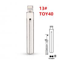 20pcs Uncut flip Metal key blade 13# TOY40 TOY48 Toy48FH for Lexus,Toyota IX35 for KD keydiy xhorse VVDI remotes universal No.13