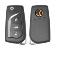 XKTO00EN Xhorse VVDI Universal Wired Flip Remote Key 3 Buttons Toyota Type