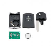 2 Buttons Car Remote Key 4D63 Chip 315mhz 433Mhz Flip Key for Mazda 3 series / Mazda 6 series