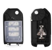 5pcs 3 Buttons Modified Flip Remote Car Key Case